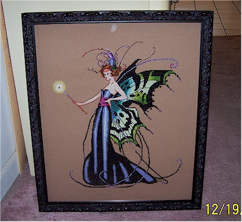 August Fairy Framed