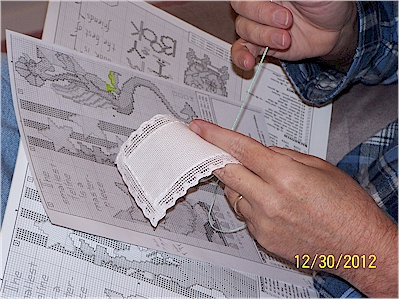 Bander cross stitching
