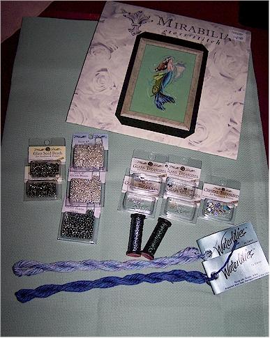 Mermaid stash and fabric