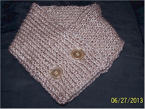 Pidge scarf out of bamboo yarn