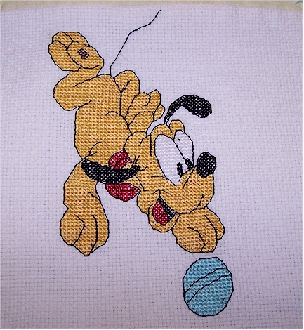 pluto with ball
