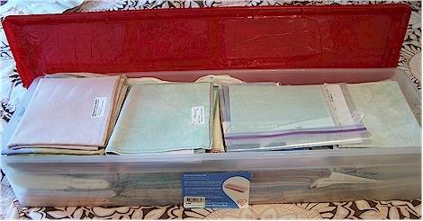 My fabric storage