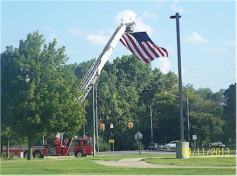 911 flag on firetruck 2
