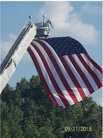 911 flag on firetruck 3