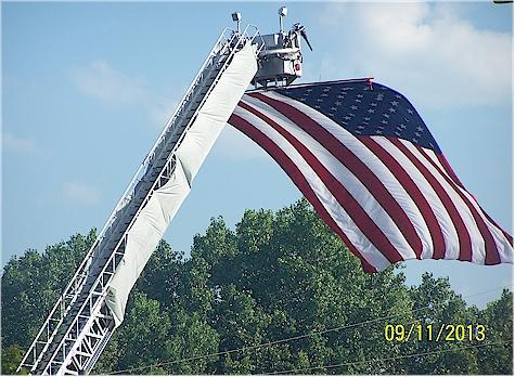 911 flag on firetruck 4