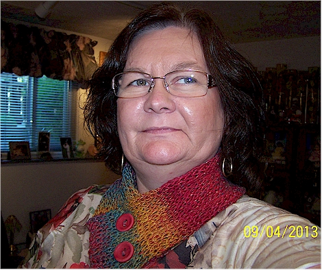 me modeling the pidge scarf
