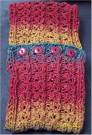 neck scarf with a cable look 2