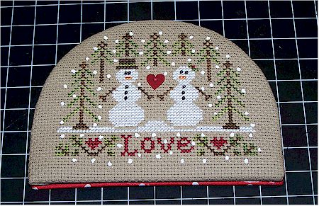 Snow love ornament