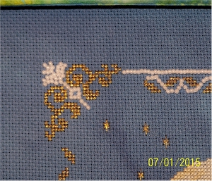 close up of beading on Under the Moonlight