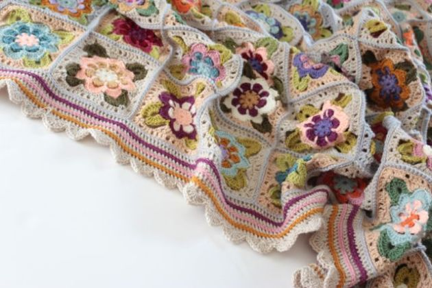 Painted Roses blanket by Sandra Paul