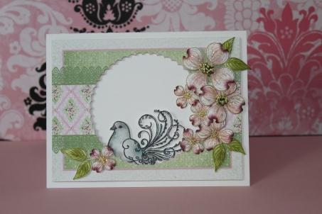 dove and dogwood card