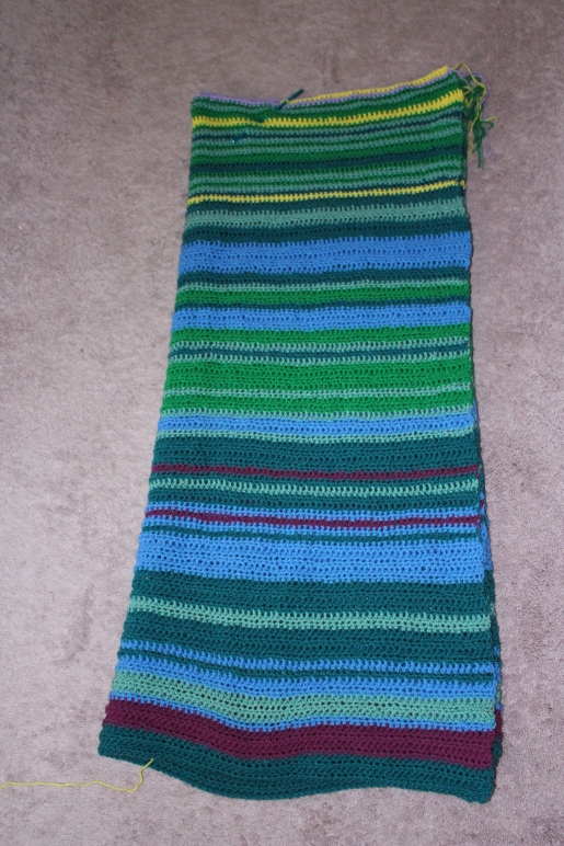 Temperature blanket progress