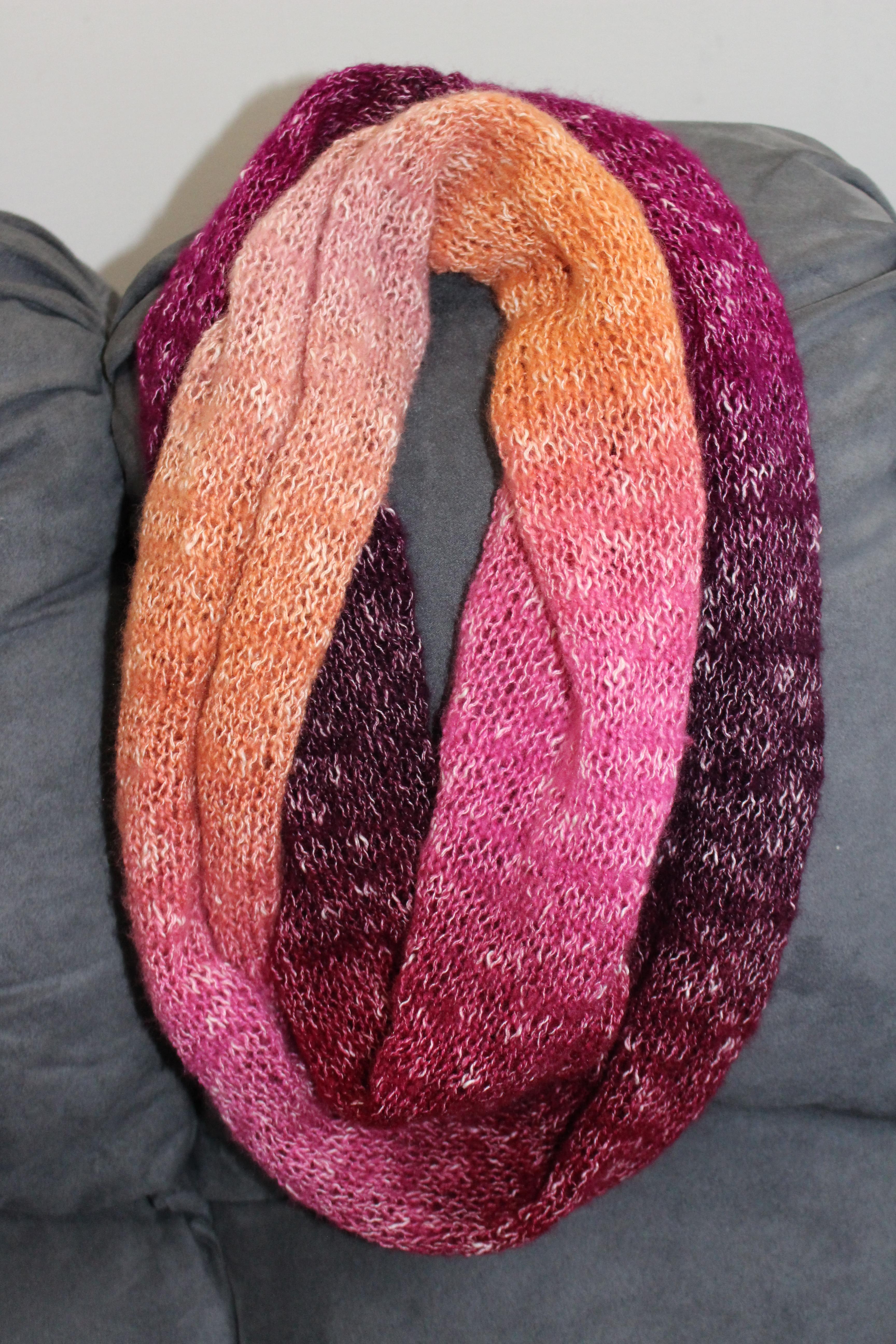 One ball shawl