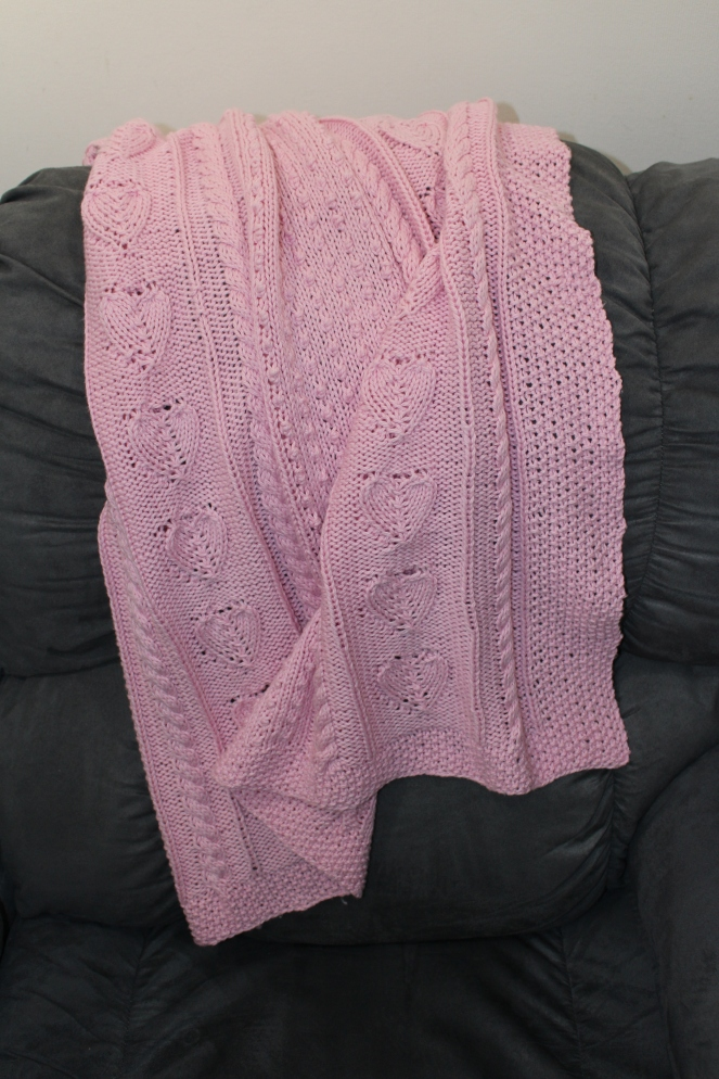 knitted baby blanket 1