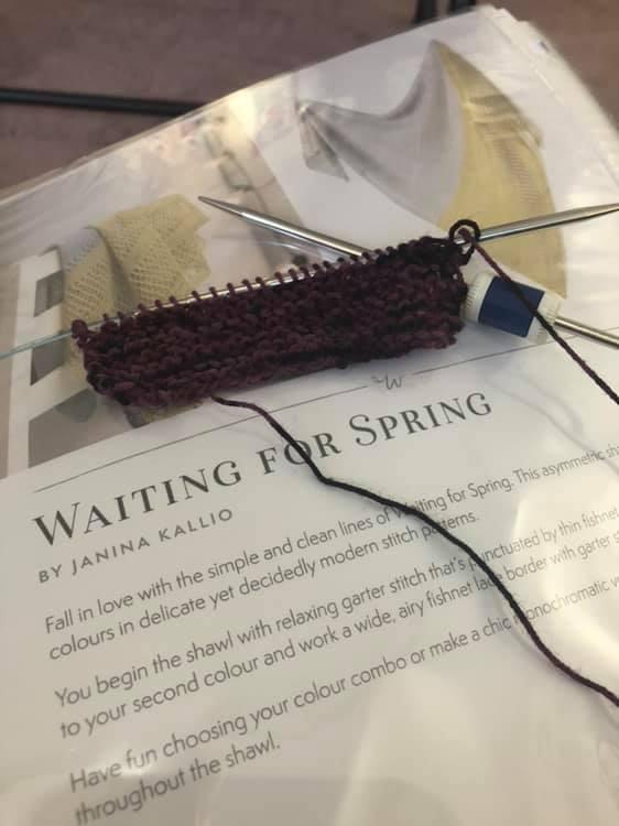 Waiting for spring shawl start
