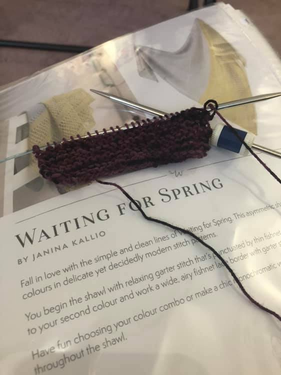 Waiting for spring shawl start