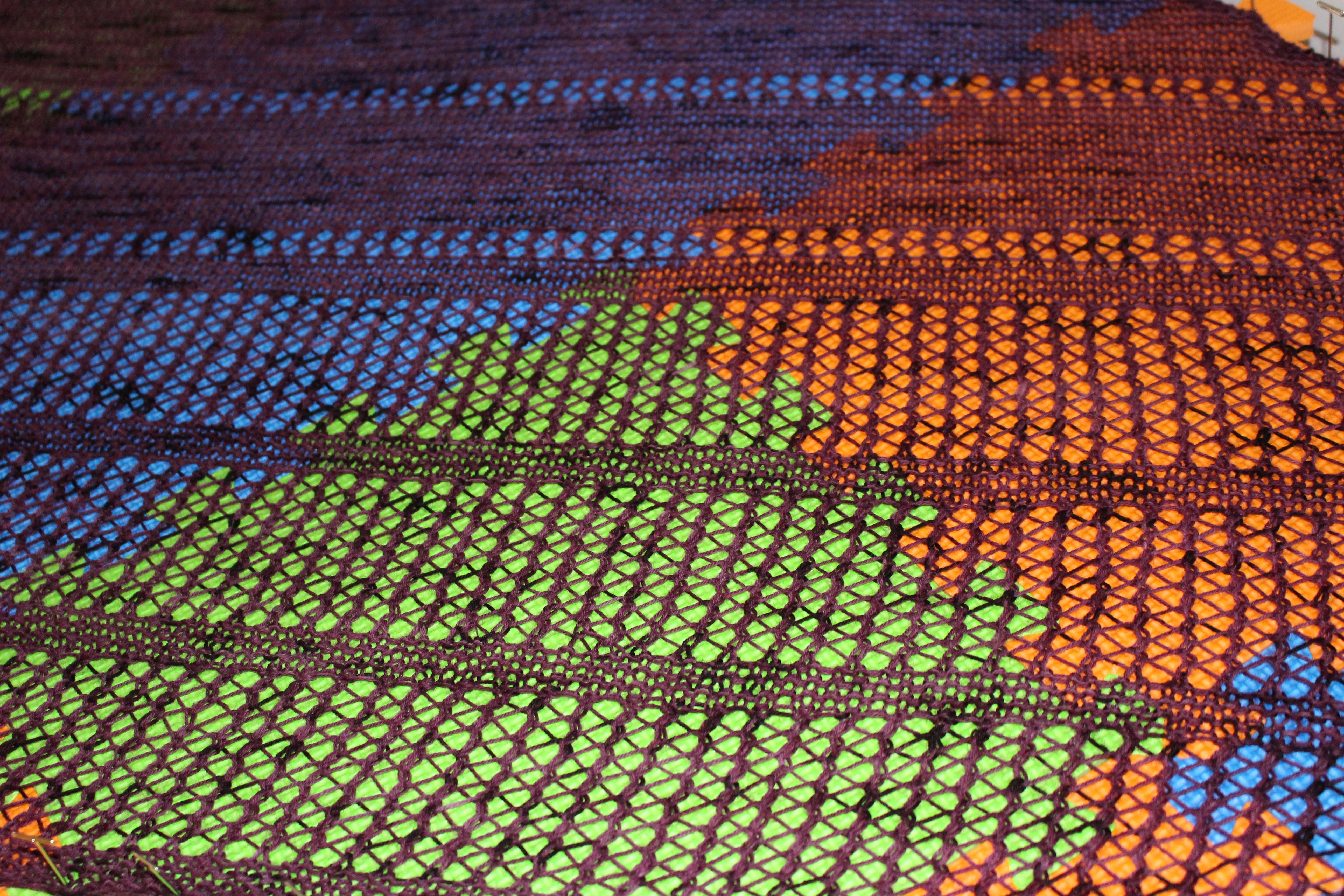 wating for spring shawl blocking