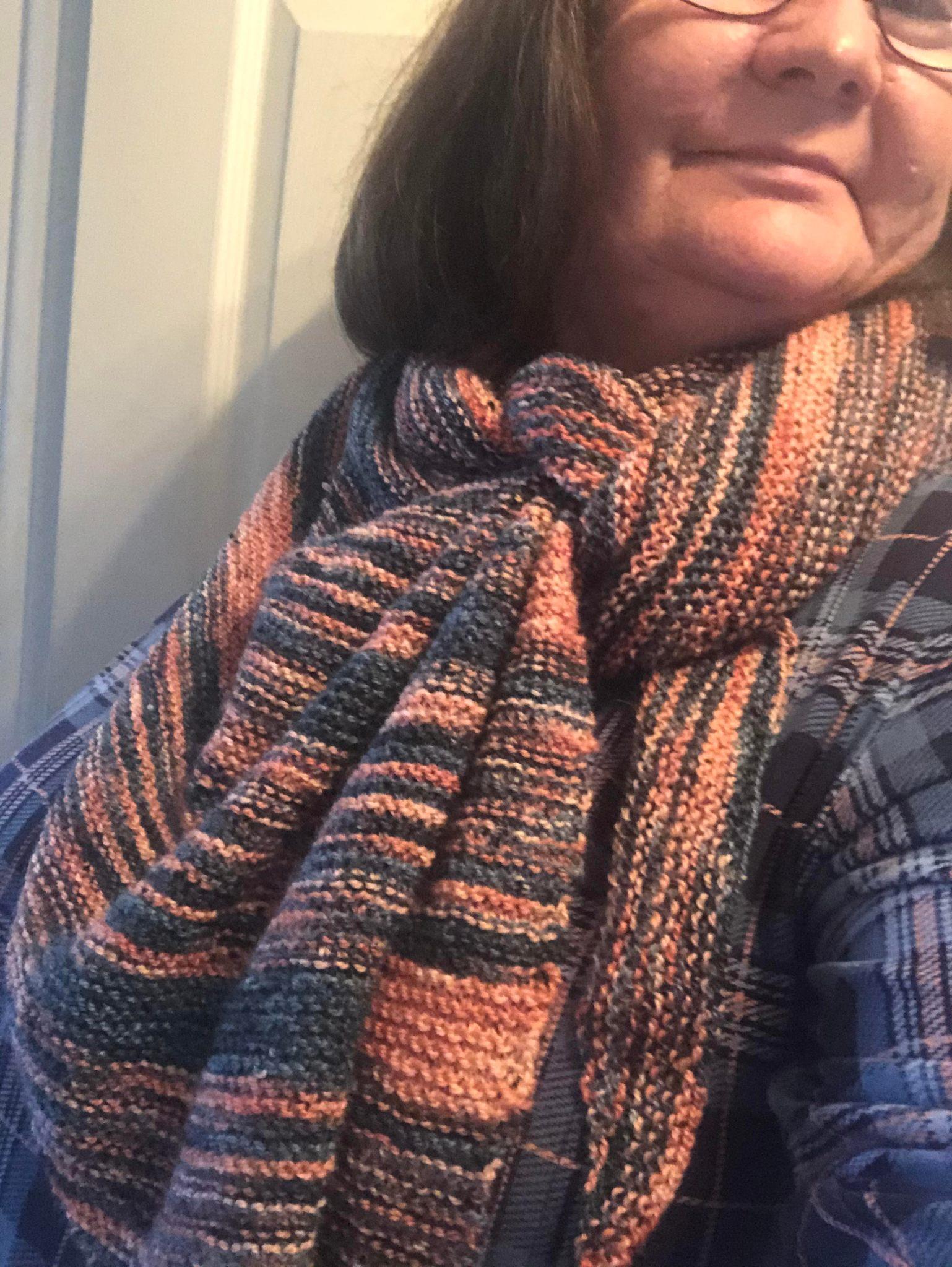 travel shawl finished